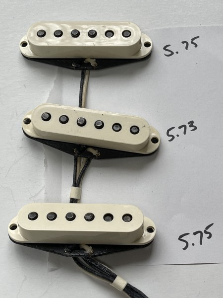 "Stratocaster Pickup Set aus ""Custom Shop Strat"""