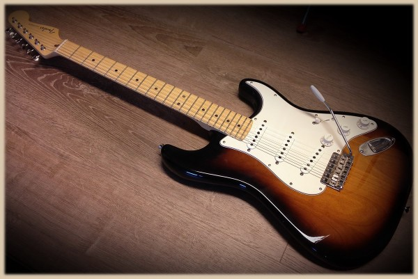 Kloppicaster Strat, 2 Tone, Mapleneck, Fender US Parts