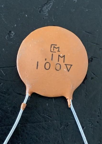 NOS Murata Ceramic Disc 100nf / 100V Kondensator