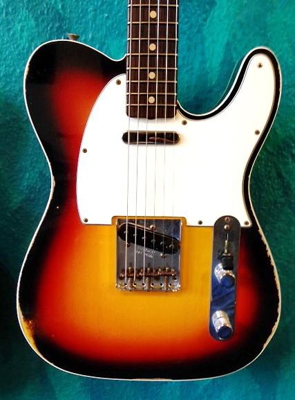 Fender® Custom Shop 60s Tele Double bound Custom Relic 3TSB