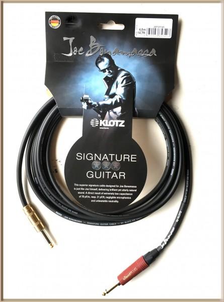 Klotz Joe Bonamassa Gitarren Kabel 4,5m mit silent PLUG