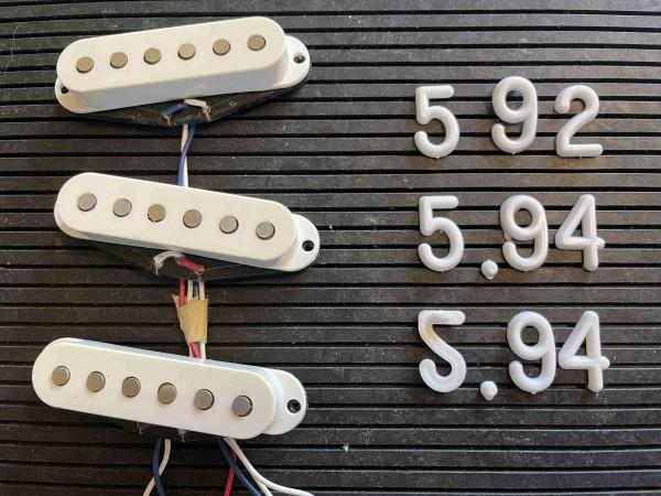 "Stratocaster Pickup Set aus ""American Standard Strat"""